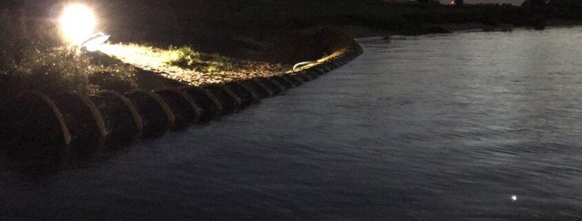 Flood Tube Barrier side river