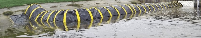 90 graden bocht Tube Barrier Flood Barrier